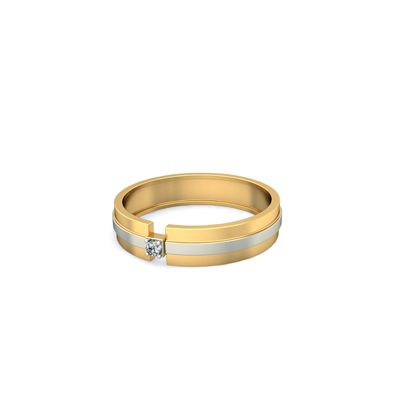 Buy carved gold rings with names with single diamond for men and
