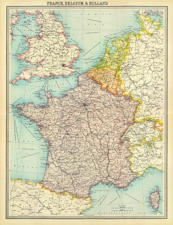 picture regarding Printable Map of France known as Typical France map, Belgium and Holland map Electronic obtain