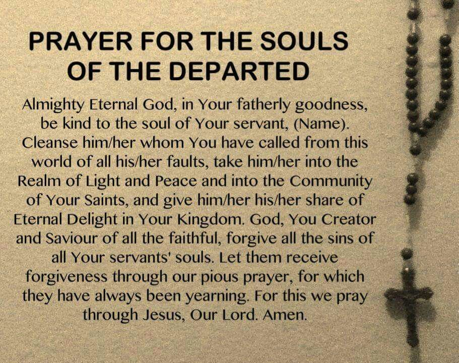 Prayer for the Souls of the Departed Holy Souls in