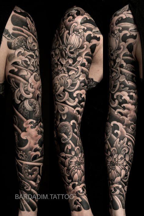 Octopus Japanese Tattoo Japanese Tattoo Sleeve Tattoos Japanese Sleeve Tattoos