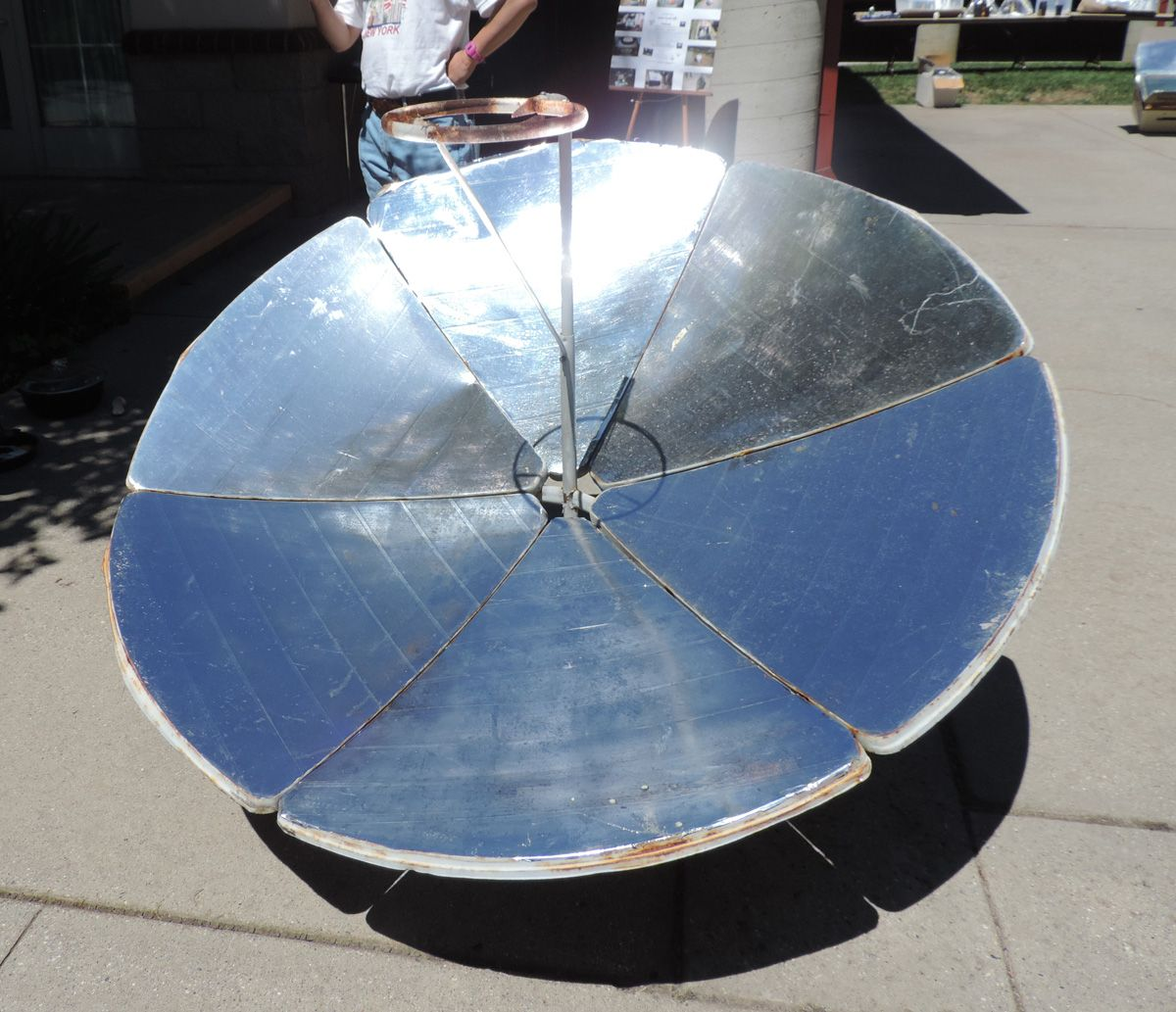 solar parabolic dish parabolic solar cooker made from an old