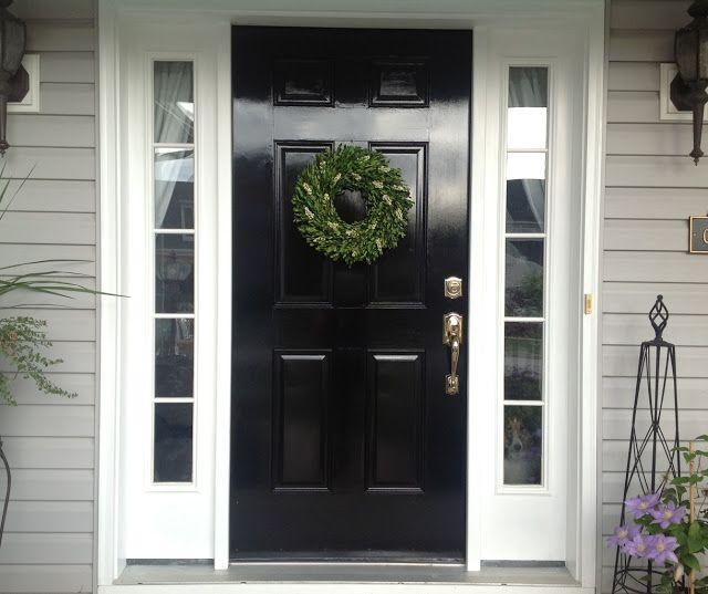 Black Front Door Knobs high gloss front door with polished nickel door knob. | home