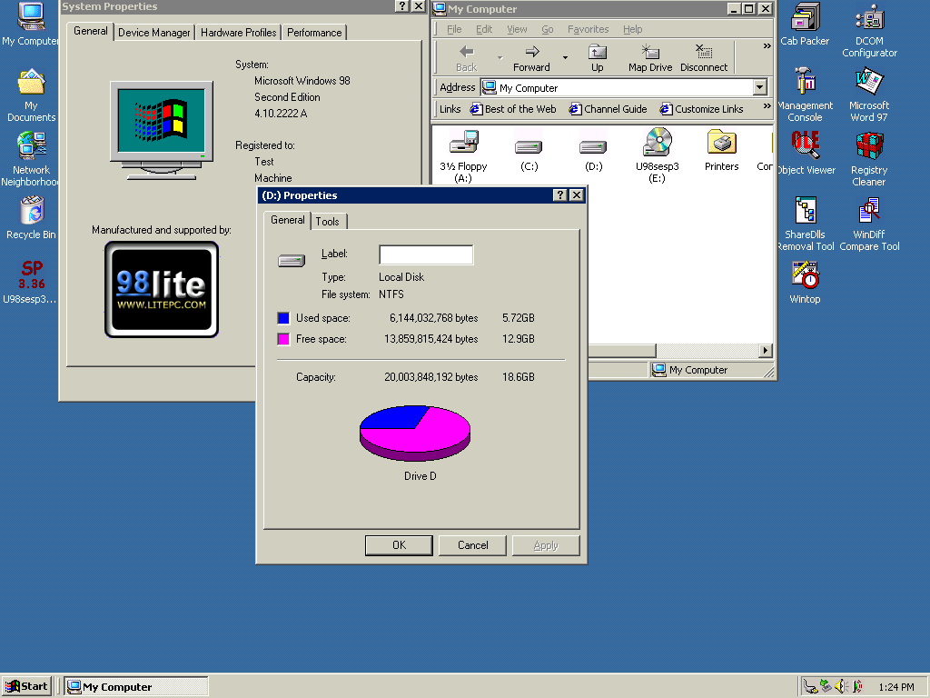 unofficial windows 98 second