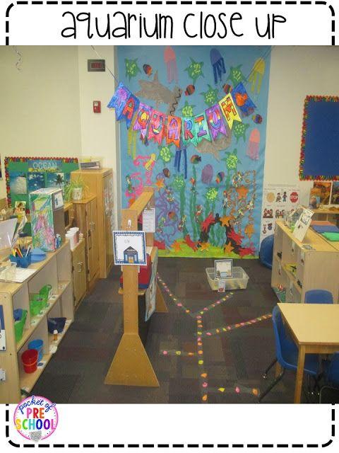 Classroom Aquarium Ideas : Dramatic play center changed into an aquarium perfect for