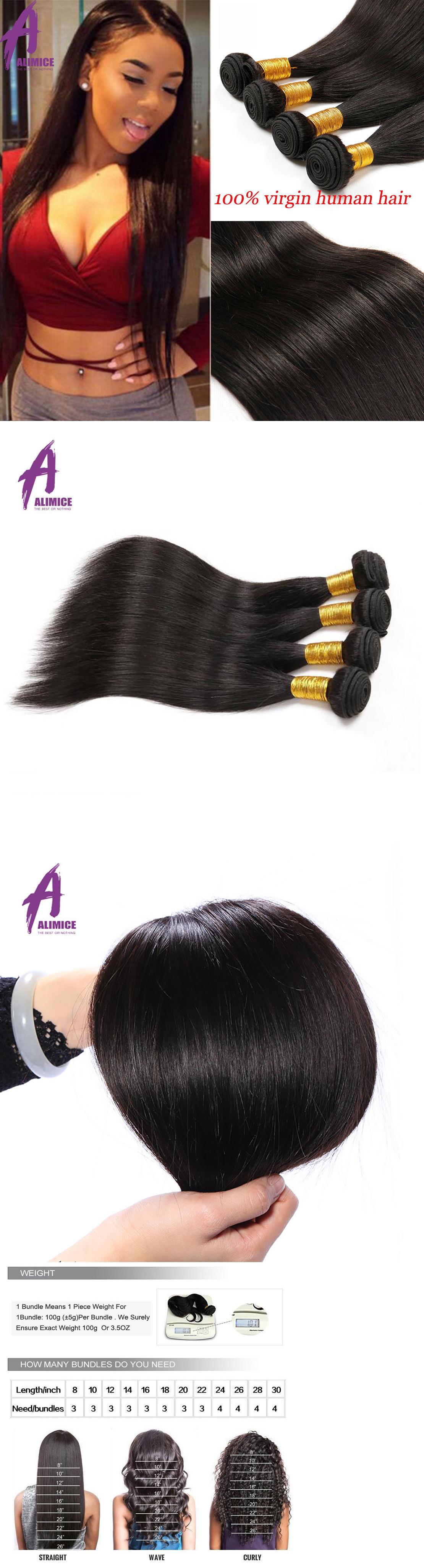 Hair Extensions 400g Thick 4 Bundles 100 Unprocessed Brazilian