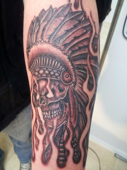 My new indian chief skull tattoo ink me pinterest for Indian ink tattoo