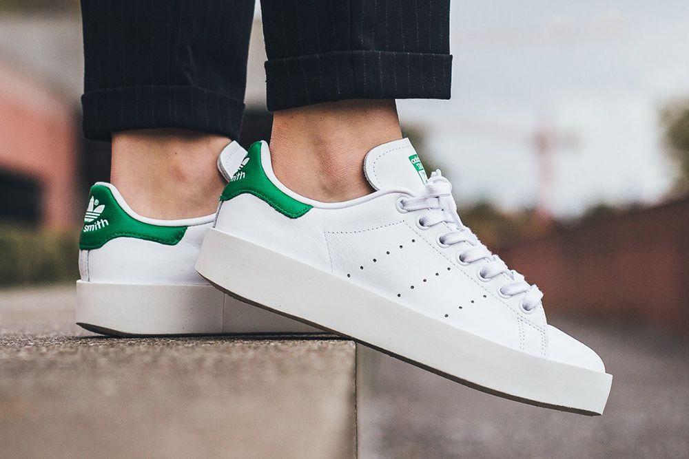 shopping san francisco los angeles adidas-stan-smith-bold-footwear-white-green | Adidas stan smith ...