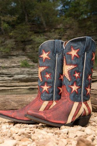 Redneck Rivera Ol' Dixie Boot - Vintage Red & Blue