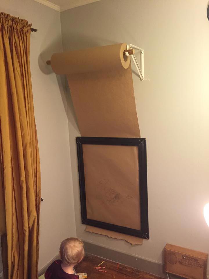 Super idee um die wände von ungeliebten filzstift kunstwerken zu ...