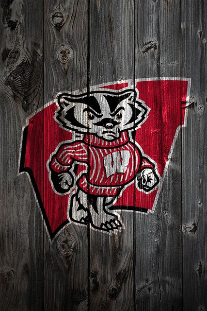 Wisconsin Badgers Wood Iphone 4 Background