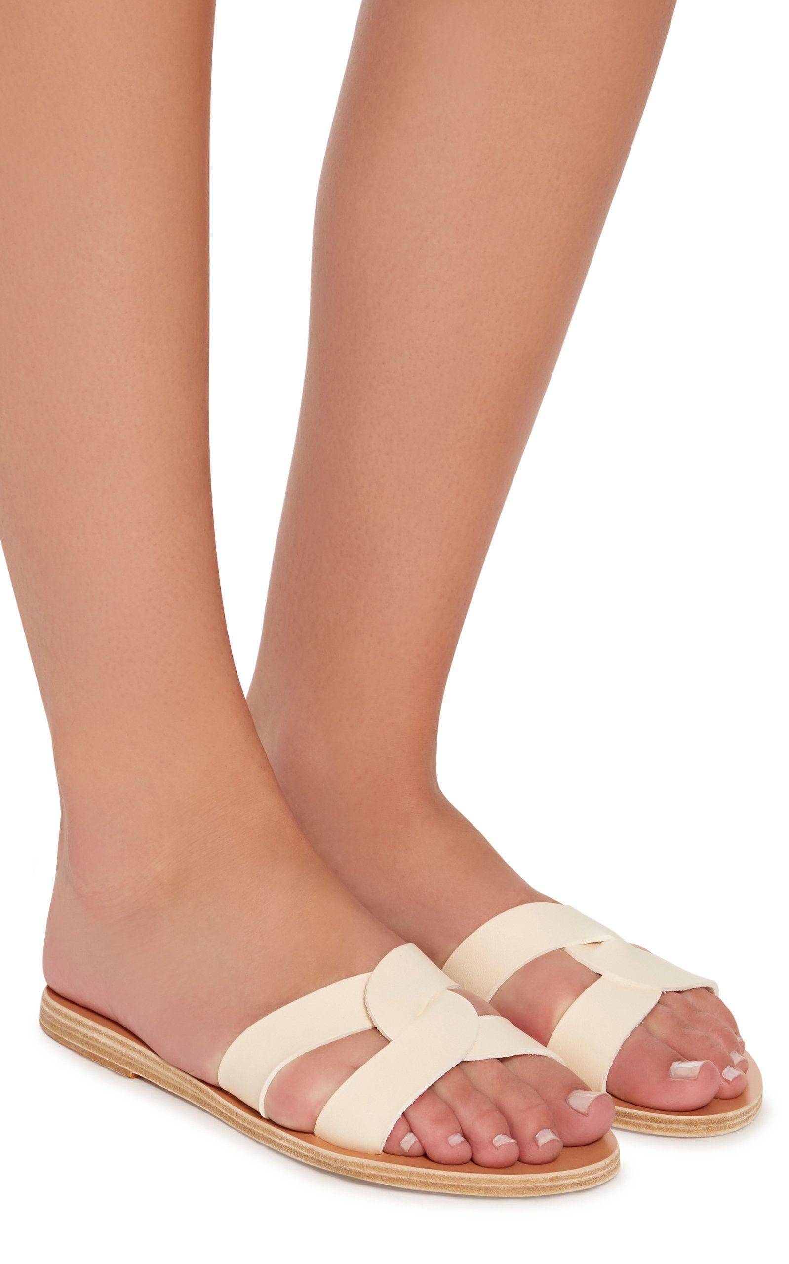 60d440d0c72 Ancient Greek Sandals Desmos Cutout Metallic Leather Slides in 2019 ...