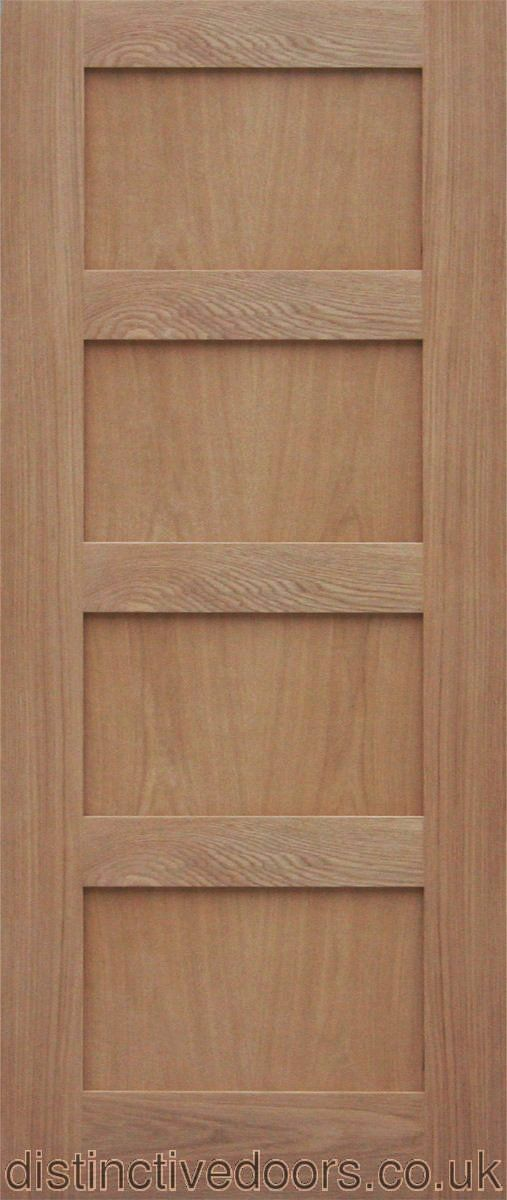 Shaker 4 Flat Panel Oak Interior Door Internal Oak Doors