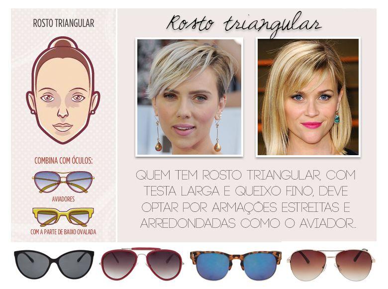 a30b4c8b6 Consultoria de Imagem: óculos para rosto triangular | ropas | Rosto ...