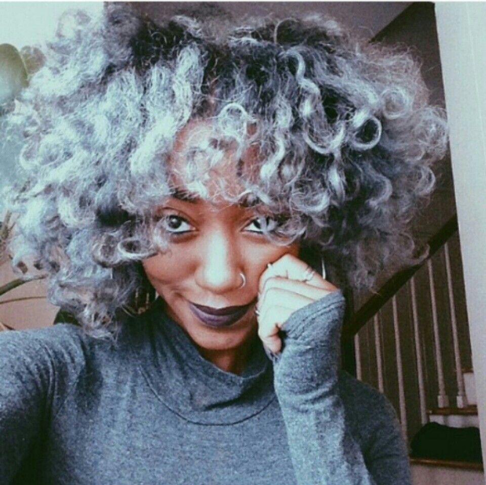 Dyed Gray Natural Hair Dyed Natural Hair Natural Hair Styles