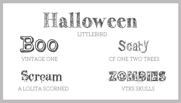 Free Font Friday // 5 Spooky Fonts | Oh Everything Handmade