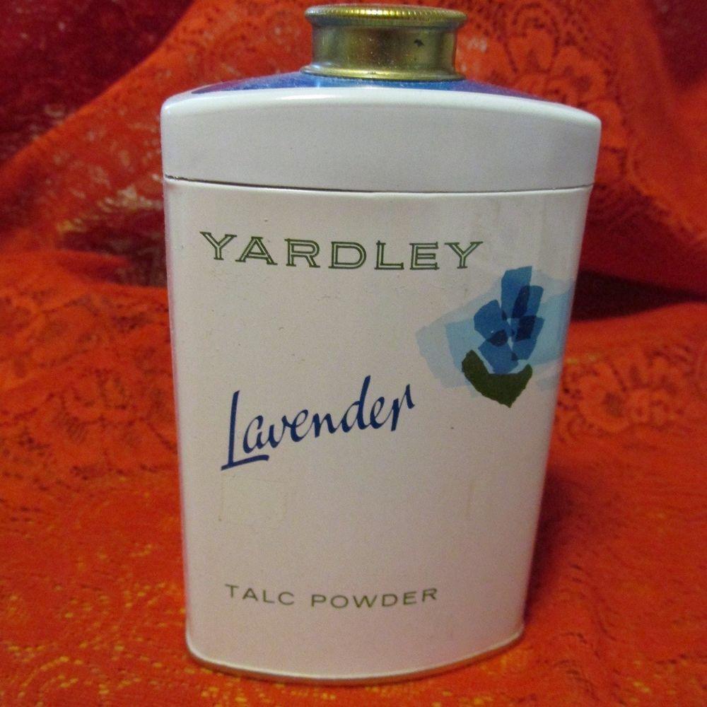 VINTAGE Collectible YARDLEY LAVENDER TALCUM POWDER TIN
