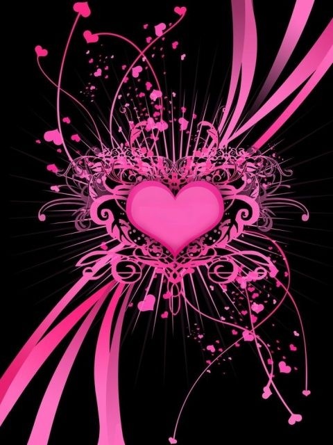 Pink Heart Splatters