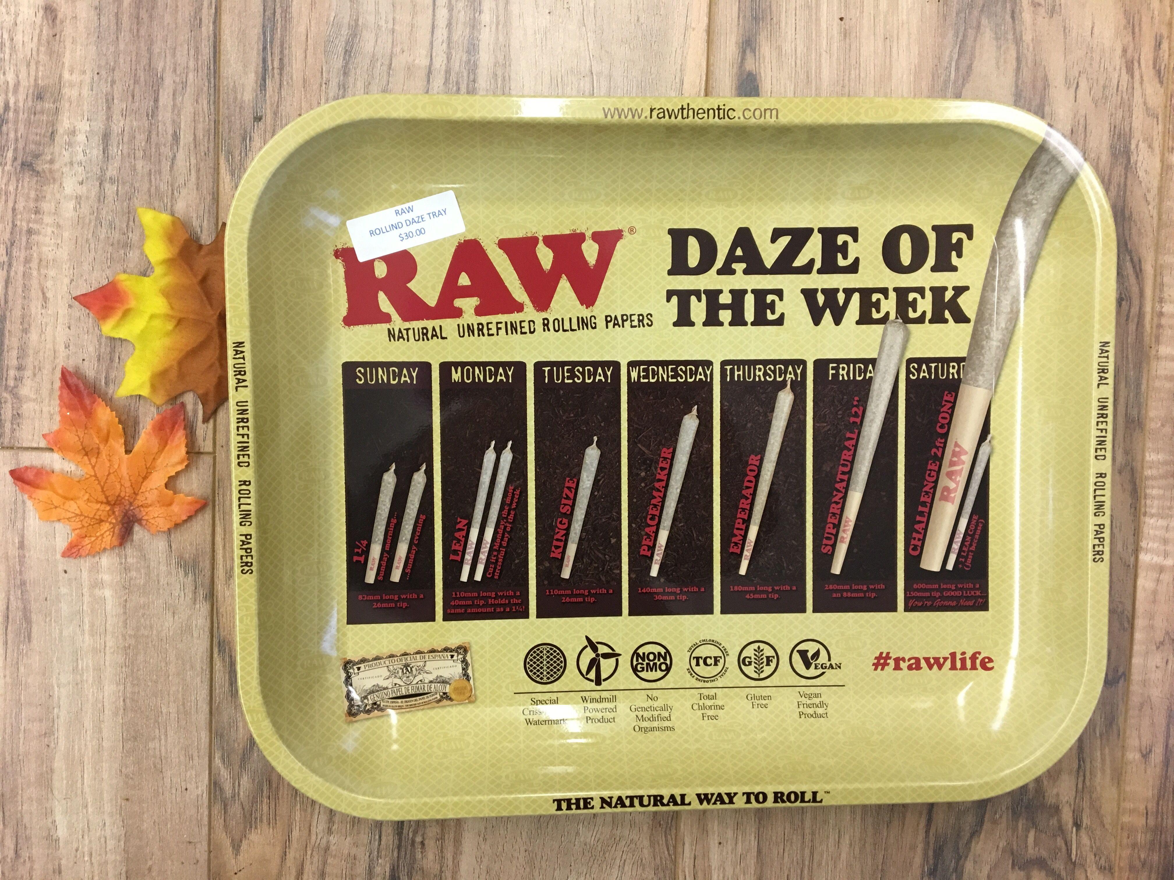 3745a13d7ada4 Daze of the Week RAW Rolling Tray #RAW #rawthentic #daze #week ...