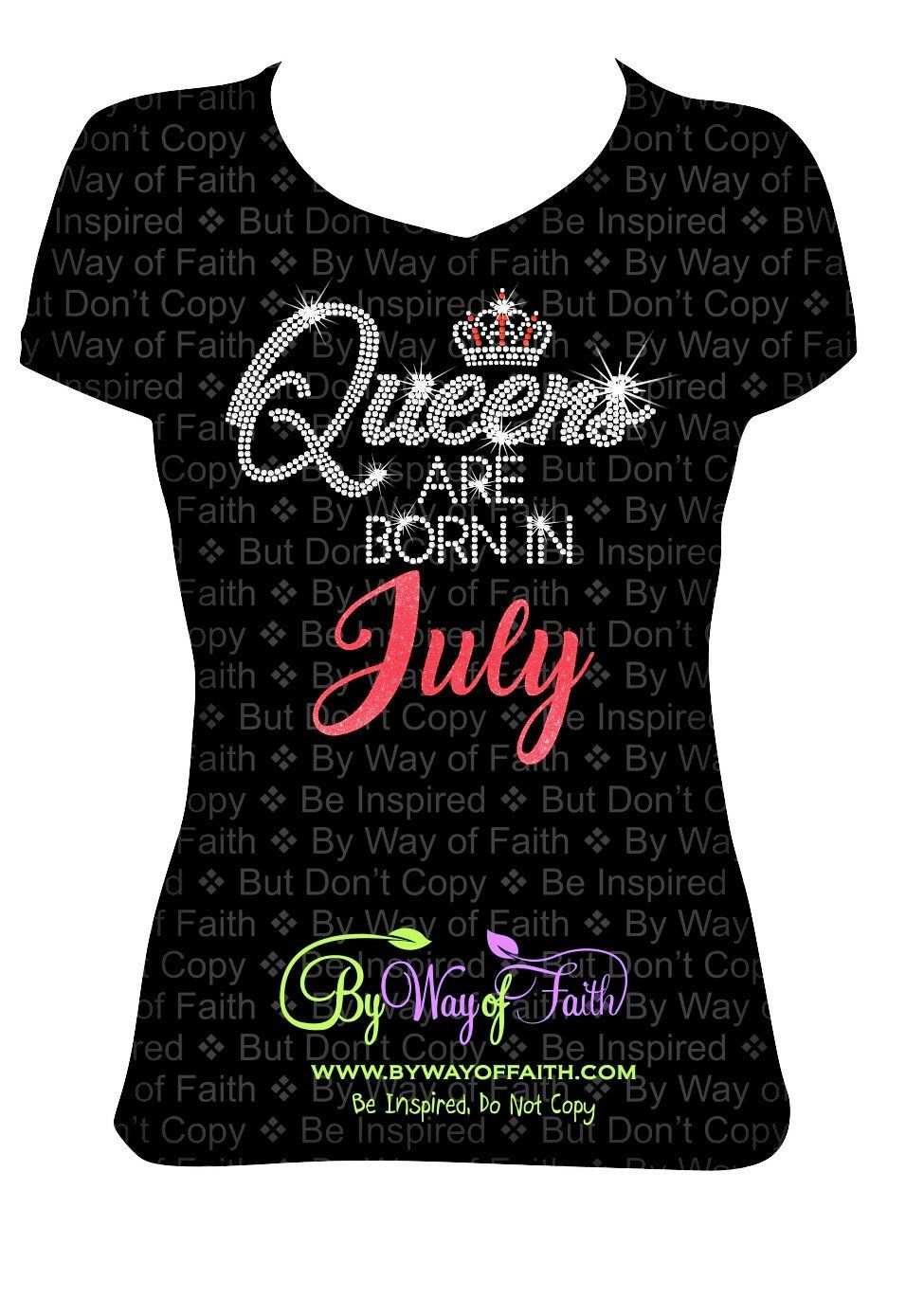 Birthday Girl gift for her Queens Are Born in August Women/'s T-shirt S-3XL