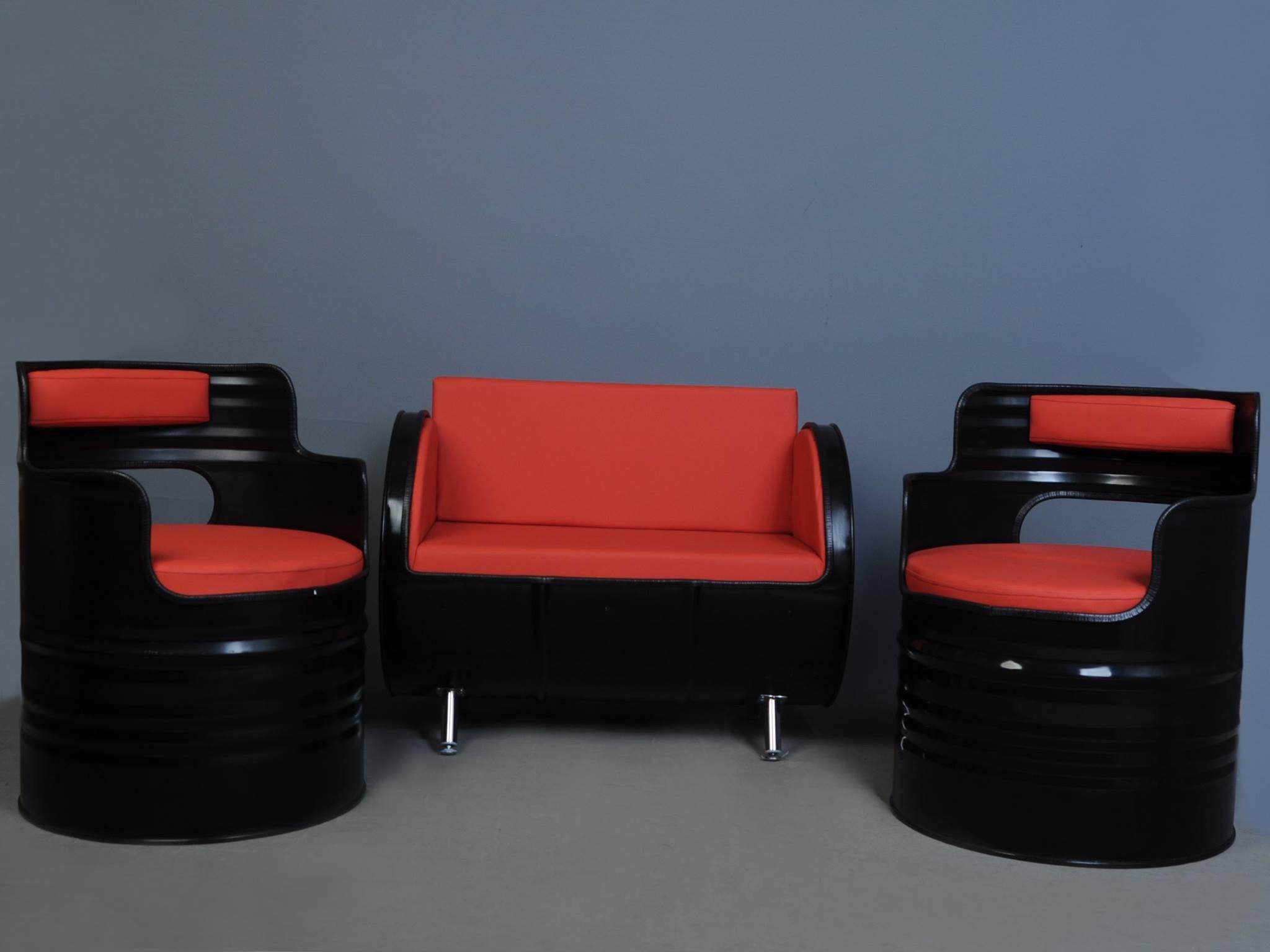 Muebles Forja Muebles De Forja Pinterest Tambor Reciclado Y  # Muebles Bidones