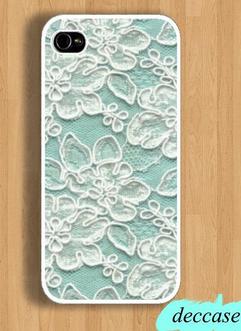 IPHONE 5 CASE Mint Lace Word IPhone Case IPhone 4 Case