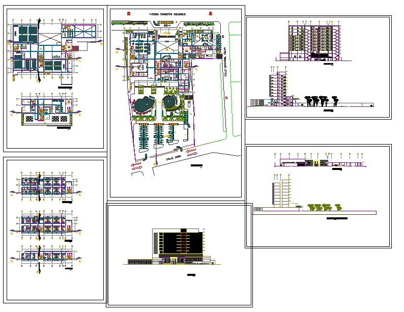 5 Star Hotel Project Cadbull Hotel Project Hotel Architecture Hotel
