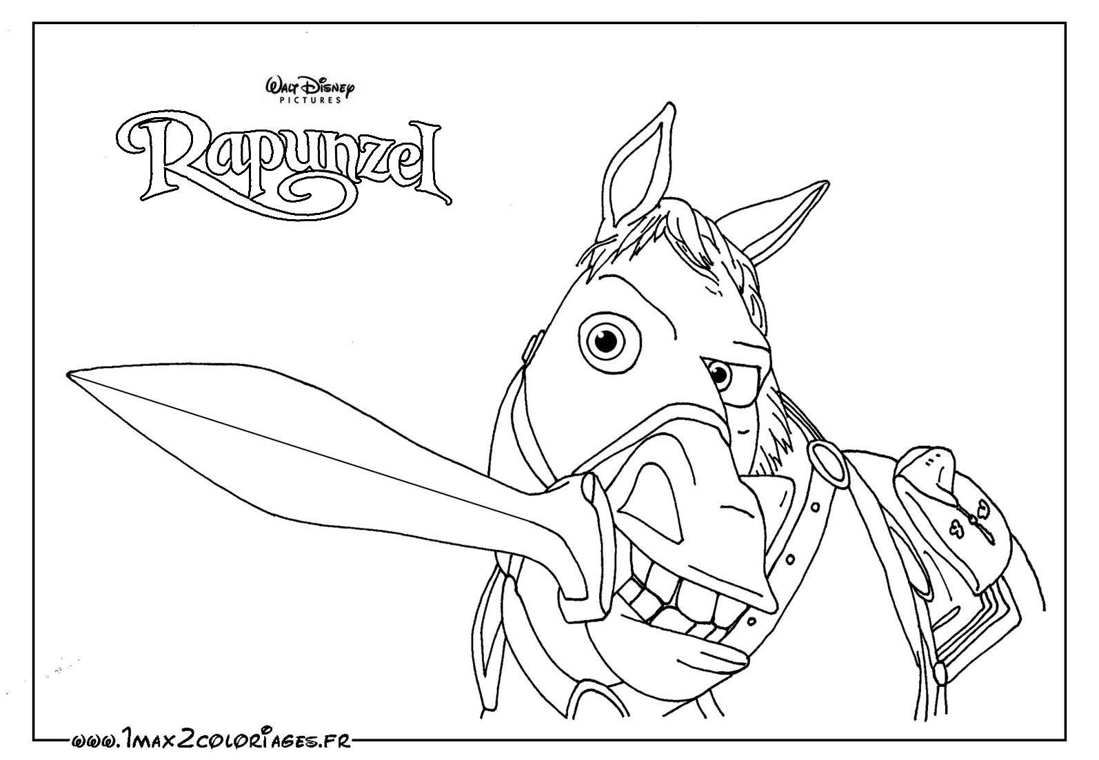 rapunzel maximus coloring pages - photo#8