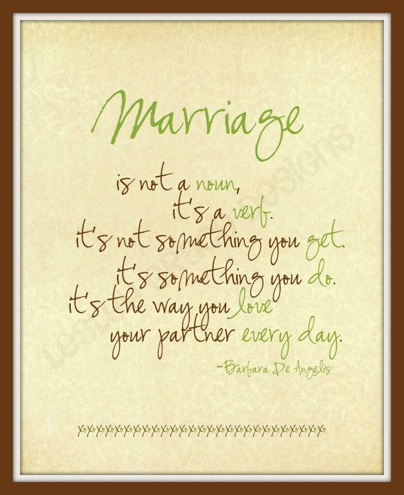 Marriage Typography Art 8x10 Digital Print By