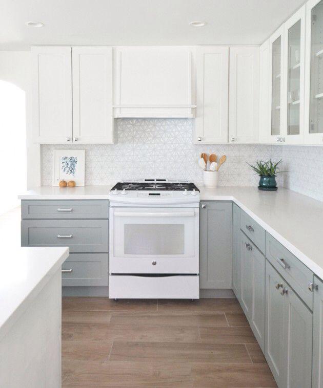 Shaker Grey And White Kitchen