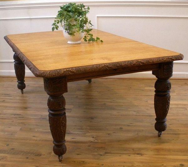Antique oak tables for home