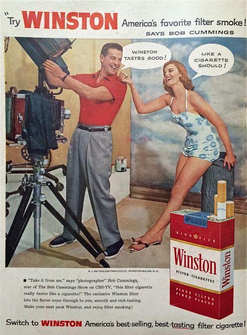 Winston cigarettes, 1956
