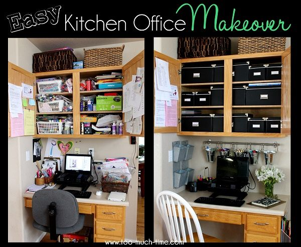 Organized Kitchen Office Makeover Office Makeover Kitchen Organization Kitchen Office Organization Ideas