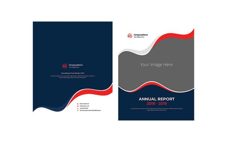 تحميل قالب بروشور وجهين Psd مجانا Brochure Psd Annual Report Brochure