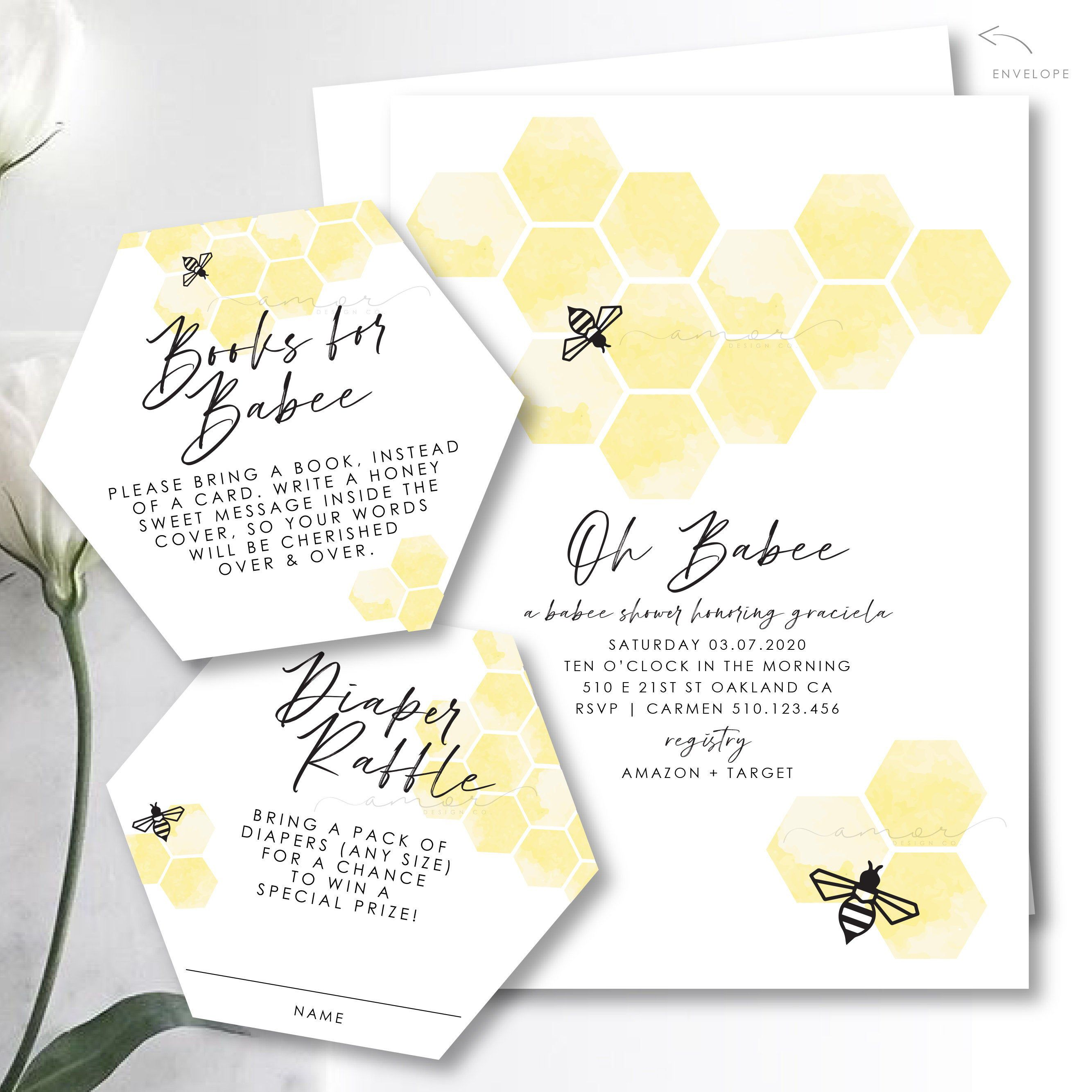Honeycomb Watercolor Baby Shower Welcome Sign Sweet Honey Oh Babee Modern Geometric Bee Baby Shower Welcome Sign Minimalist Modern Bee