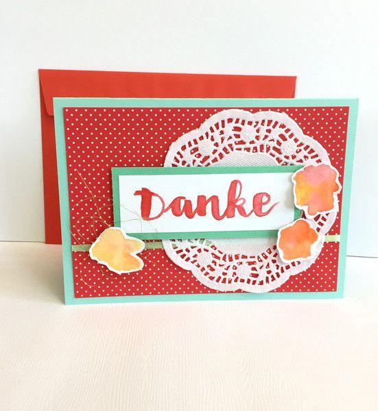 Danksagung - Blumige Danksagungskarte AQUARELL - ein Designerstück von POMMPLA bei DaWanda