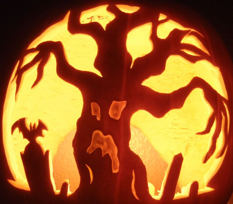 Scary Pumpkin Carving Patterns: Halloween Pumpkin Designs, Scary