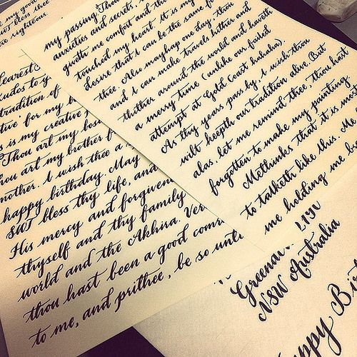 Letter Writing Sample Job  Outgoing Mail Letter Calligraphy