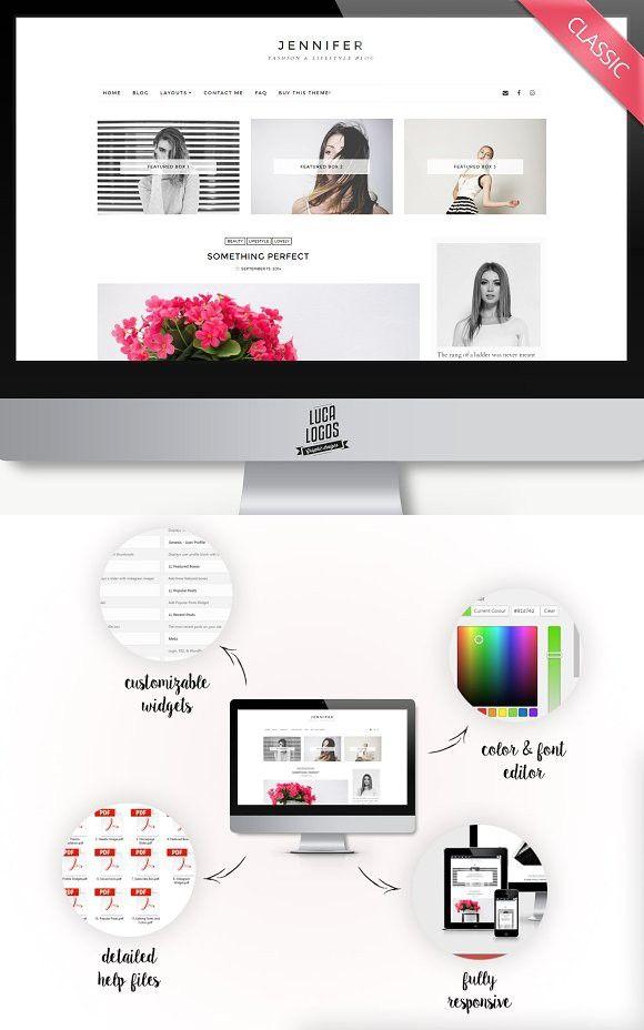 Minimal Wordpress Theme - Jennifer. Tumblr Themes | Tumblr Themes ...