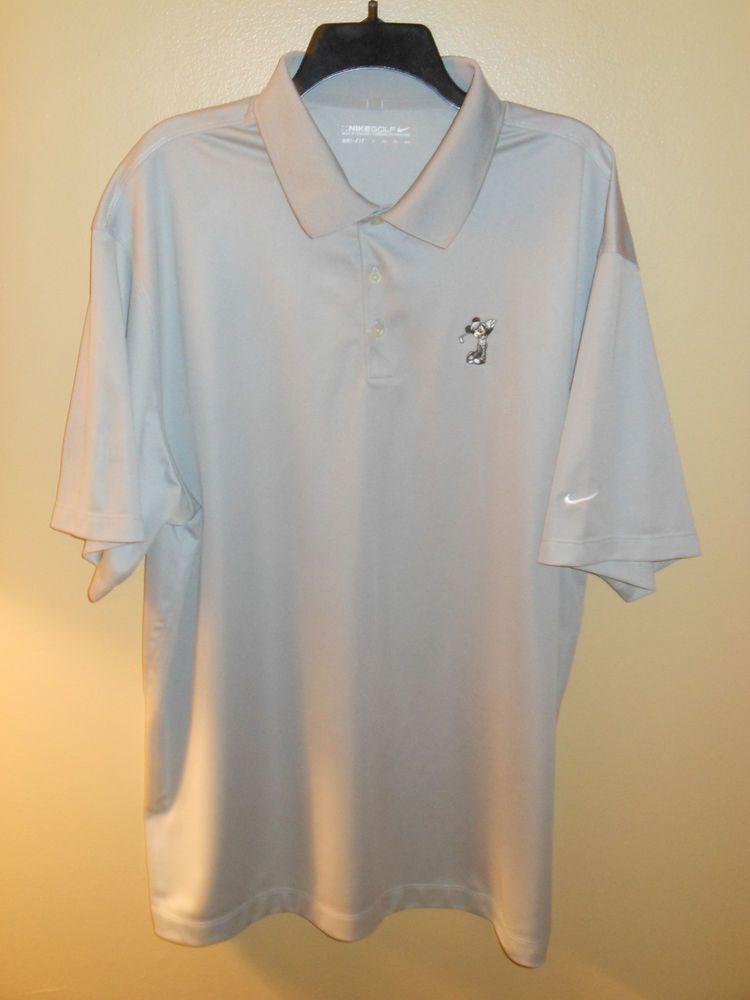 EUC Men's NIKE Golf Polo Shirt Disney MIckey Mouse Dri-Fit 2XL XXL ...