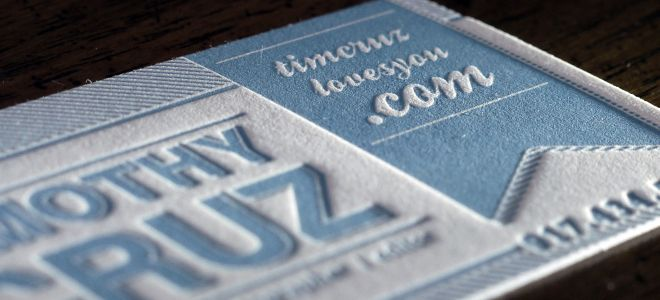A good #letterpress business card is memorable and helps you stand - letterpress business card