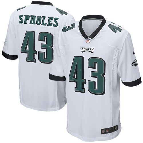 Mens Philadelphia Eagles Darren Sproles Nike White Game Jersey ...