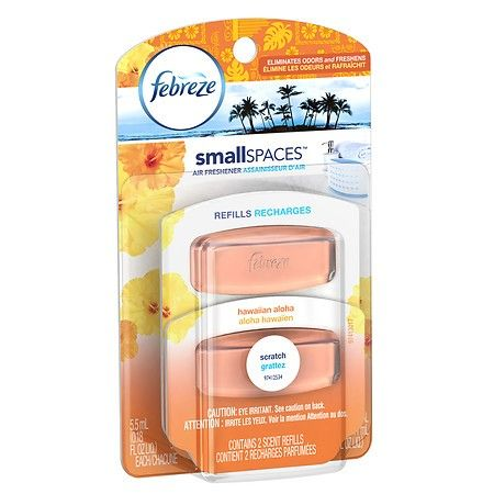 Febreze smallSPACES Air Freshener, Dual Refill Hawaiian Aloha 2.0 ea ...