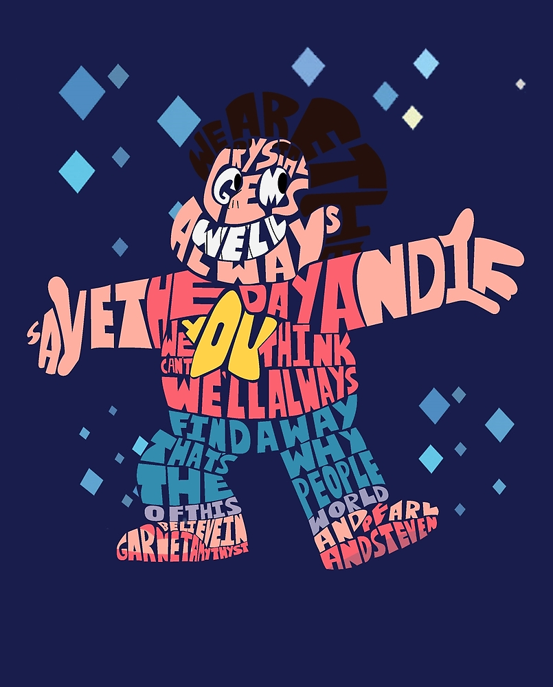 Steven Universe Typography On Redbubble
