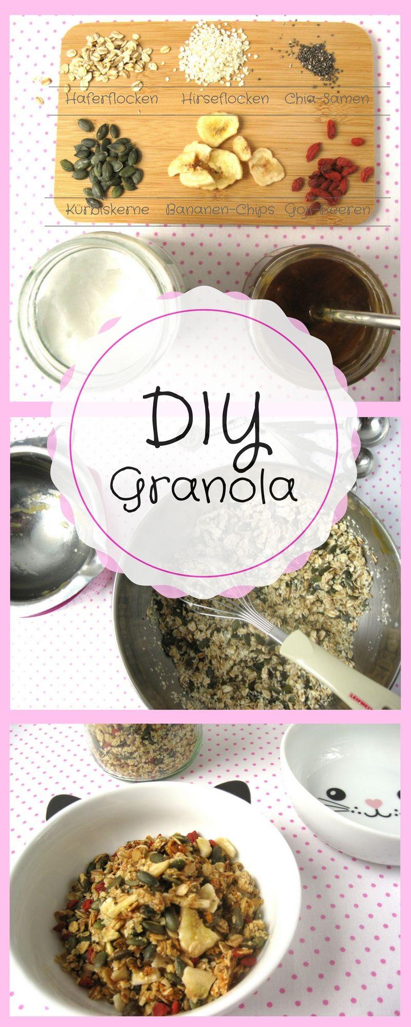 diy granola knusperm sli selber machen rezept ohne kristallzucker gesundes fr hst ck und. Black Bedroom Furniture Sets. Home Design Ideas