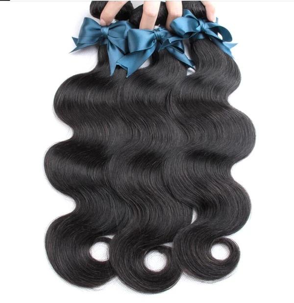 Brazilian Hair Body Wave 3 Bundles With Closure Human Hair Bundles With Closure Lace Closure Remy Human Hair Extension Hair Bundles Remy Human Hair Extensions Remy Human Hair