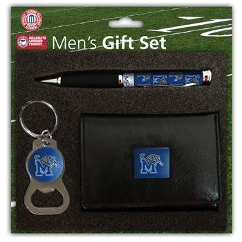 Memphis Tigers NCAA Trifold Wallet Pen & Keychain Gift Set by Team Sports America. $28.95. Includes leather lool Tri-fold Wallet Bottle Opener key chain and Comfort Grip Pen all with full color team logos.. Save 21% Off!