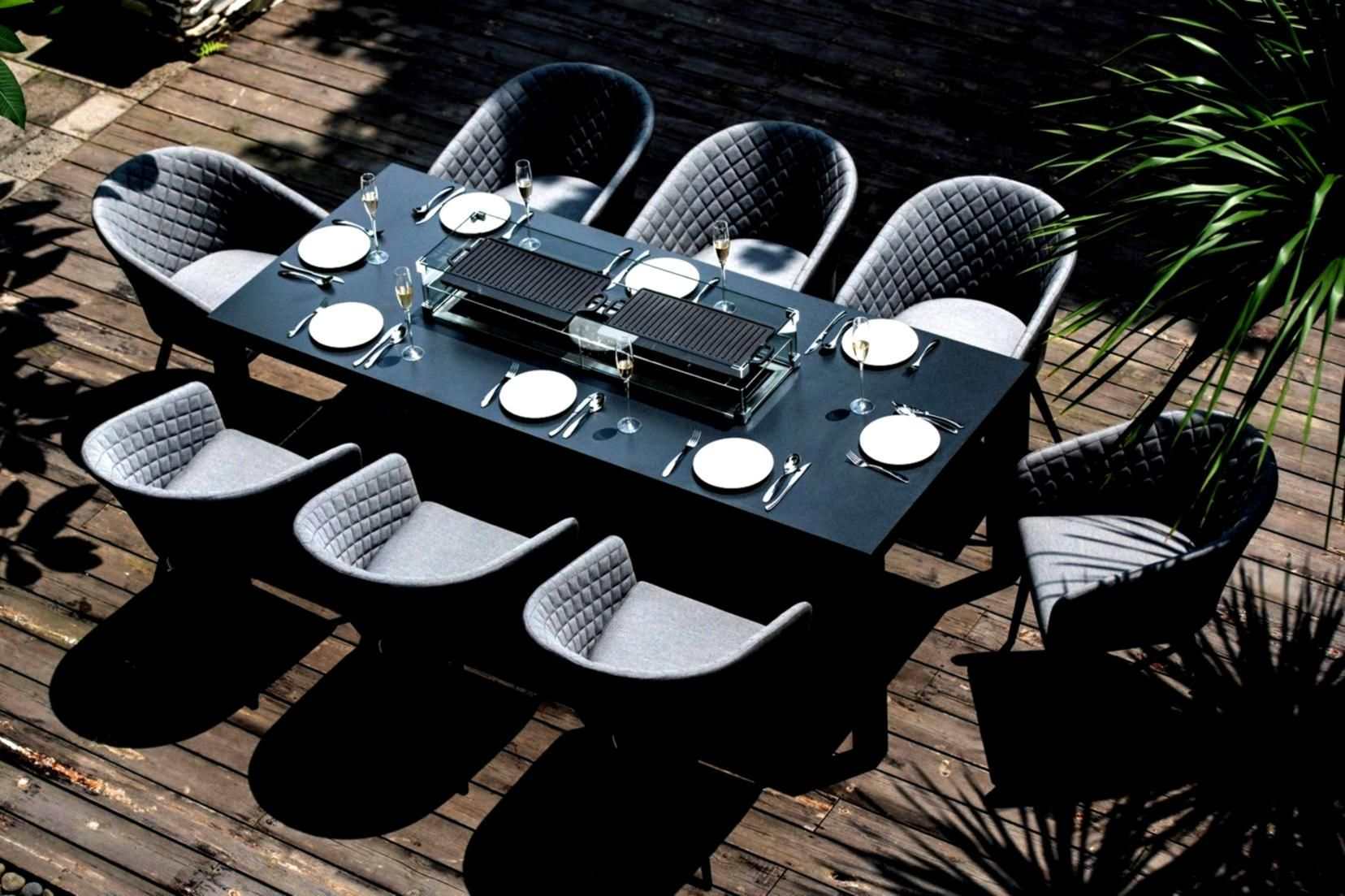Flanelleambition Rectangular Ambition Flanelle Firepit Ambition Firepit Flanelle Flanelleambition Rectangular Dining Set Outdoor Fabric Fire Pit Table Modern outdoor fire dining table