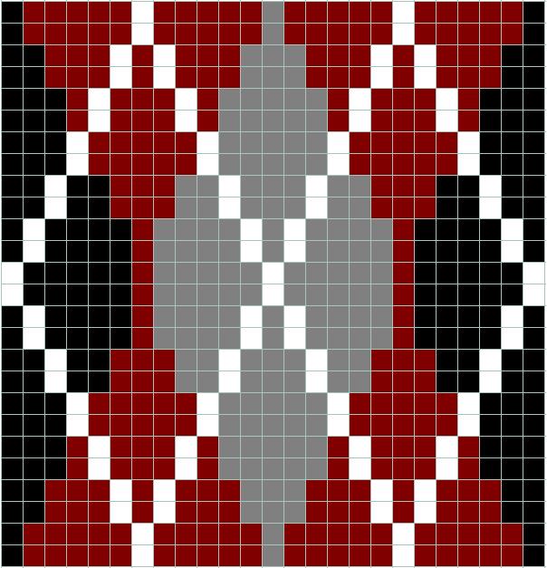 Argyle chart for cross stitch, knitting, knotting, beading ...