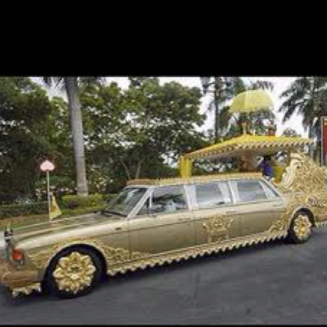 Gold Plated Car That Belongs To The Sultan Of Bling -er