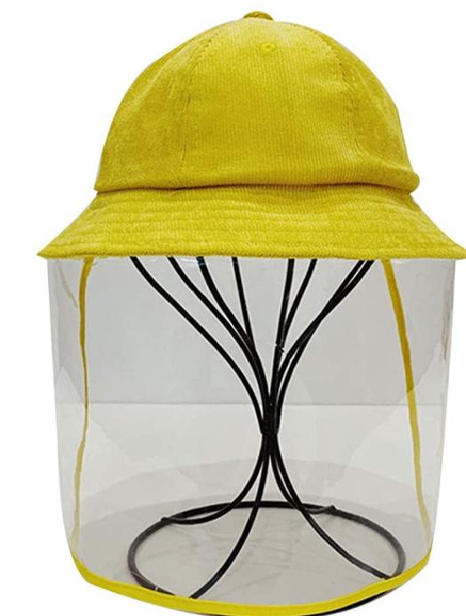 TWISFER Adult Anti-Spitting Schutzhut Staubdichte Abdeckung Peaked Cap Hat Gesichtsschutzmaske Schutzhut Outdoor Splash Hat Schutzmaske Isolation Anti Pollution Hat